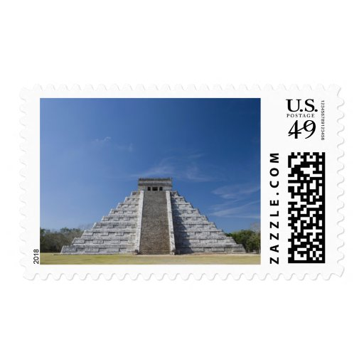 Mayan Pyramid, Morning in March Postage Stamps