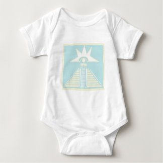 Mayan Pyramid with Venus Eye Glyph Baby Bodysuit