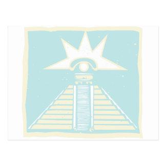 Mayan Pyramid with Venus Eye Glyph Postcard