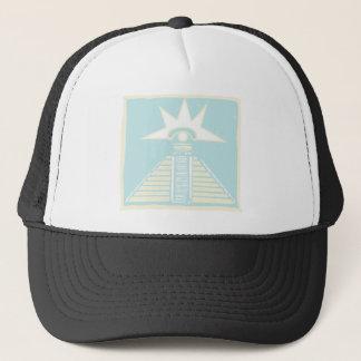 Mayan Pyramid with Venus Eye Glyph Trucker Hat