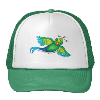 Mayan Quetzal Sparrow Trucker Hat