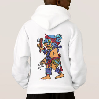 Mayan Rain God Colored Hoodie