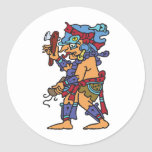 Mayan Rain God Colored Stickers