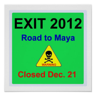 mayan road sign posters