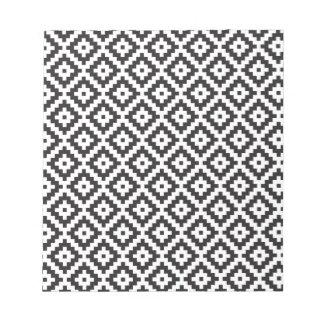 Mayan Rose Pearl Monogram Black White Knit Note Pad