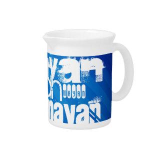 Mayan; Royal Blue Stripes Pitchers