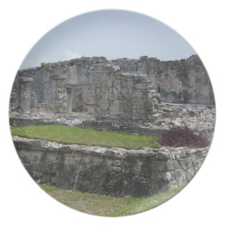 Mayan Ruin Plate