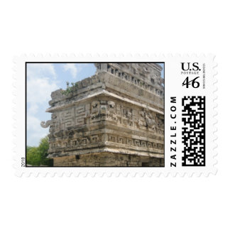 Mayan Ruin Postage Stamp