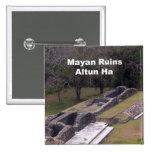 Mayan Ruins, Altun Ha Pinback Button