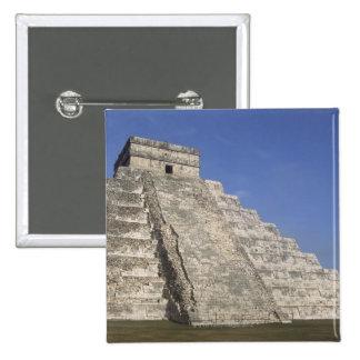 Mayan ruins at Chichen Itza, Kukulcans Pyramid Pinback Button