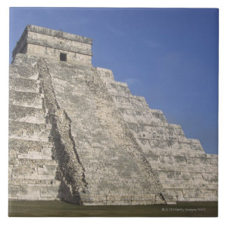 Mayan ruins at Chichen Itza, Kukulcans Pyramid Ceramic Tile