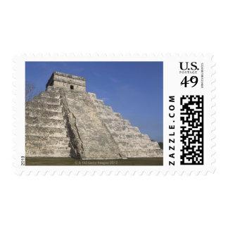 Mayan ruins at Chichen Itza, Kukulcans Pyramid Postage