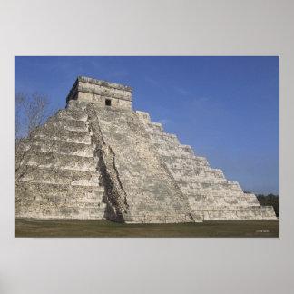 Mayan ruins at Chichen Itza, Kukulcans Pyramid Poster