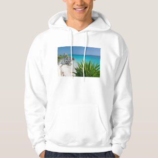 Mayan Ruins At The Beach In Tulum Hoodie