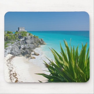 Mayan Ruins At The Beach In Tulum Mouse Pad