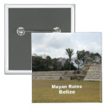 Mayan Ruins, Belize Button