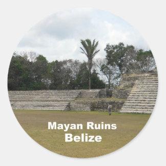 Mayan Ruins, Belize Classic Round Sticker