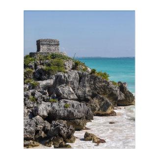 Mayan Ruins in Tulum Mexico Acrylic Print