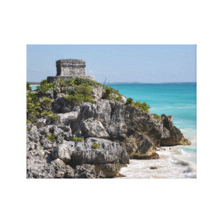 Mayan Ruins in Tulum Mexico Canvas Print