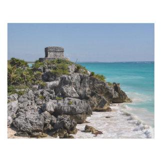 Mayan Ruins in Tulum Mexico Panel Wall Art