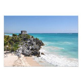 Mayan Ruins in Tulum Mexico Photo Print