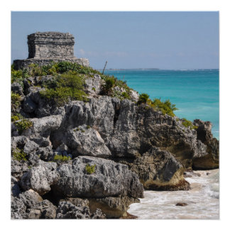Mayan Ruins in Tulum Mexico Poster