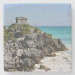 Mayan Ruins in Tulum Mexico Stone Coaster