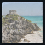 "Mayan Ruins in Tulum Mexico Stone Coaster<br><div class=""desc"">Mayan Ruins in Tulum Mexico</div>"