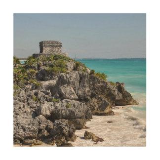 Mayan Ruins in Tulum Mexico Wood Wall Art