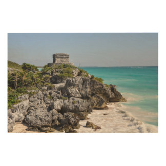 Mayan Ruins in Tulum Mexico Wood Wall Decor