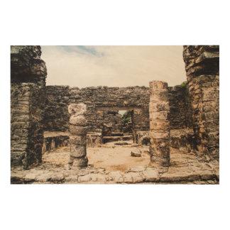 Mayan Ruins In Tulum, Mexico Wood Wall Decor