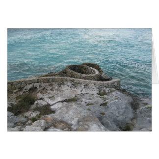 Mayan Ruins, Isla Mujeres, Mexico Card