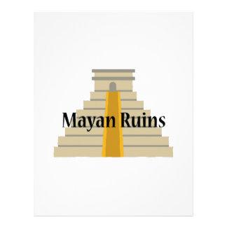 Mayan Ruins Letterhead