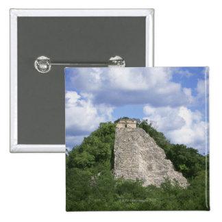 Mayan ruins of Coba, Yucatan peninsula, Mexico 2 Inch Square Button