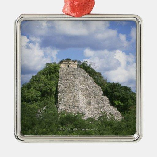 Mayan ruins of Coba, Yucatan peninsula, Mexico Square Metal Christmas Ornament