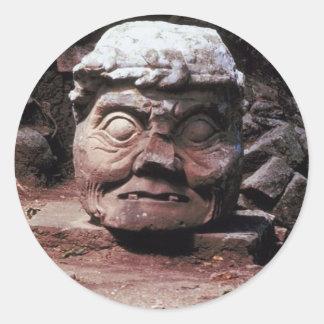Mayan ruins of Copan - Honduras Classic Round Sticker