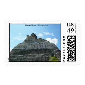 Mayan Ruins - Xunatunich in Belize Postage