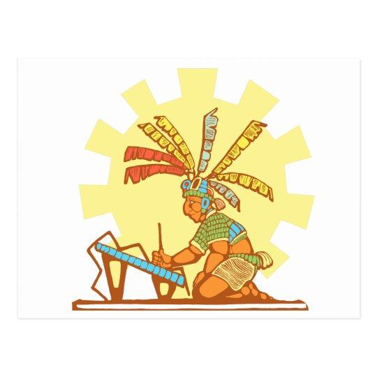 Mayan Scribe #2 Postcard