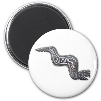 Mayan Serpent - Black and Silver Magnet