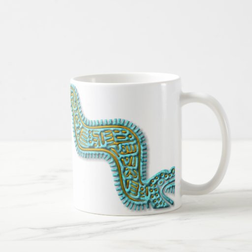 Mayan Serpent-turquoise and gold Coffee Mugs