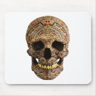 Mayan Skull by Hellmet design District Mouse Pad