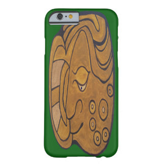MAYAN SMILING MEDALLION- FORREST GREEN BARELY THERE iPhone 6 CASE