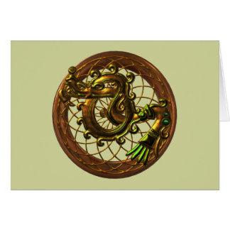 Mayan Snake Card