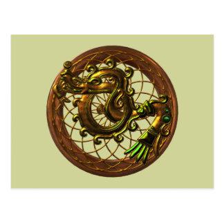 Mayan Snake Postcard