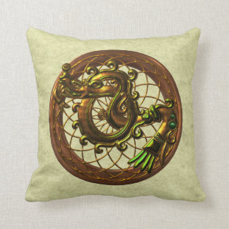 Mayan  Snake Symbol Throw Pillow