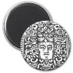 Mayan Stele Head Magnet