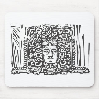 Mayan Stele Head Mouse Pad