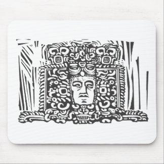 Mayan Stele Head Mouse Pad