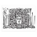 Mayan Stele Head Post Cards