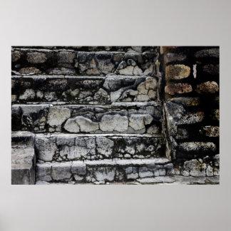 Mayan Steps, Guatemala Poster